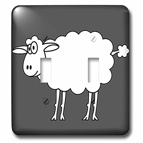 3dRose lsp_58249_2 Cute Cartoon Sheep Double Toggle Switch *** Visit the image link more details. (This is an Amazon Affiliate link and I receive a commission for the sales)