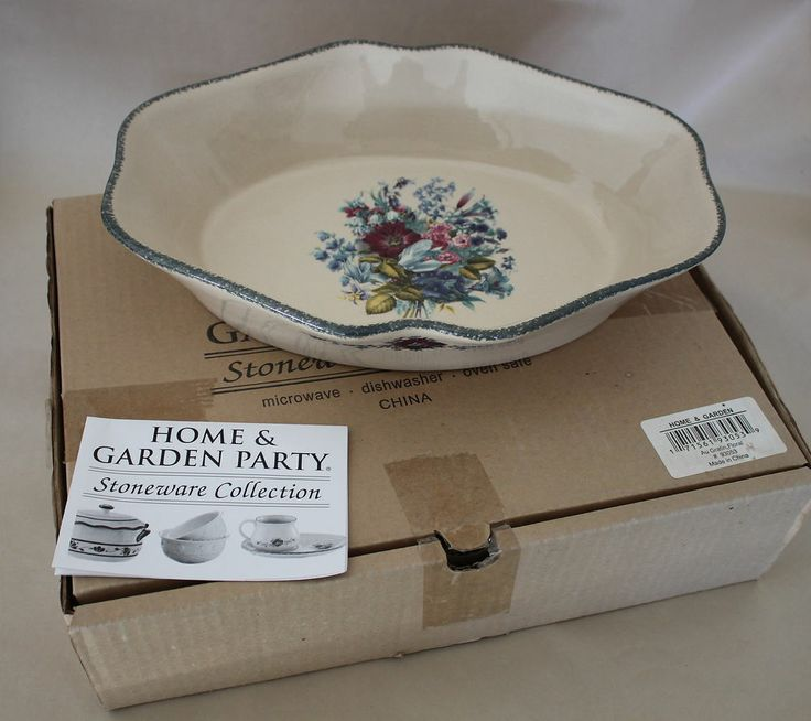Home And Garden Floral Au Gartin Party Stoneware Collection 93053 Baking  Dish $24.95