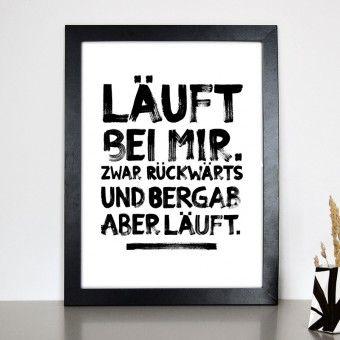 """FORMART Kunstdruck """"läuft bei mir"""""""