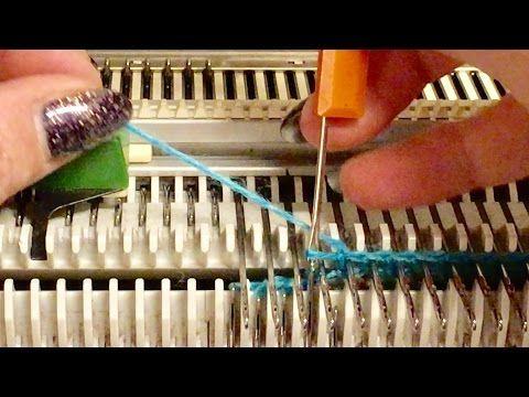 RUCKZUCK *1* Abketten über die hinteren Nadeln - YouTube