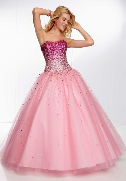 Mori Lee 95068 Prom Dress - PromDressShop.com (comes in pink, aqua blue, & white[off-white]) (sizes: 0-28) ($478.00)