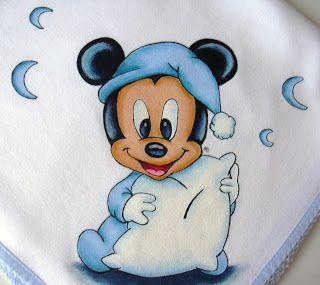 Resultado de imagem para pinturas em tecido para bebês disney
