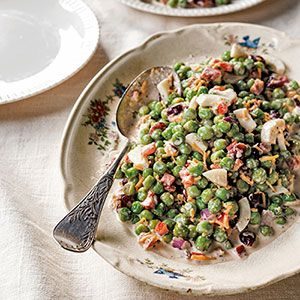English Pea Salad from: The B.T.C. Old-Fashioned Grocery Cookbook: Recipes and Stories from a Southern Revival