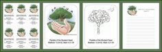 Bible Mustard Seed Parable bookmark | Parable of the Mustard Seed Printables Set from MerriDennis.com