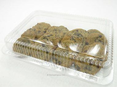 """12"""""""" x 8"""""""" Plastic Hinged Bakery Container #CPC-77"""