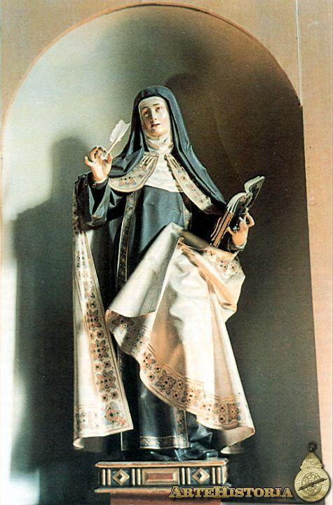 Ilustración 13  Gregorio Fernandez, Santa Teresa de Jesús, 1625. Valladolid, M. Nac. de Esc.