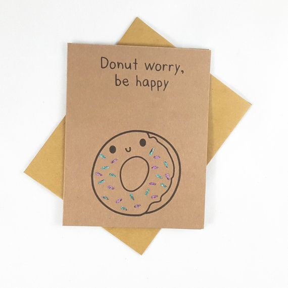Donut Funny Card Funny Greeting Card Greeting Cards by papercute