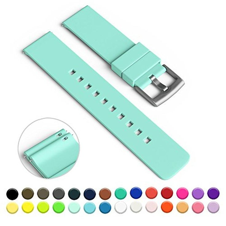 GadgetWraps 22mm Silicone Strap / Band for Pebble Watch with Quick Release Pins (Mint Green) - Brought to you by Avarsha.com