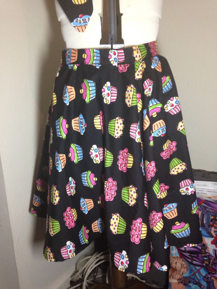 Full circle cupcake skirt I made for a commission. www.ellyprizeman.com