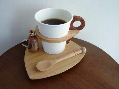 productos populares ocultos madera titular de la taza de papel | Kagamoku Blog