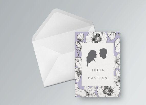 Ich biete euch eine Hochzeitseinladungskarte in digitaler Form. Dazu benötige ich einfach euren persönlichen Text und Fotos von euch im Profil zum Erstellen der Silhouetten. Diese binde ich in das Layout ein und schicke euch die Karten online zum Herunterladen und Ausdrucken. Das PDF Dokument könnt ihr ohne weiteres direkt von einer Druckerei in eurer Nähe drucken lassen oder von zu Hause drucken. weiterer Service:  - Einbindung eures personalisierten Textes - Erstellung eurer Silhouetten…