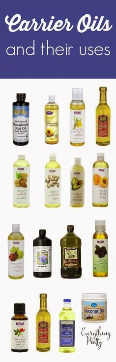 List of carrier oils and their benefits for hair and skin.