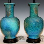 [Table Lamp] : pair of large vintage haeger pottery mottled turquoise lava lamps  large lava lamp uk large lava lamp