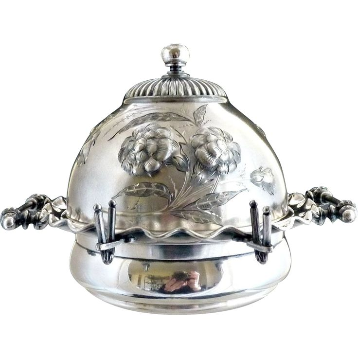 victorian butter dish | Victorian silver butter dish glass insert embossed milkmaid portrait ...