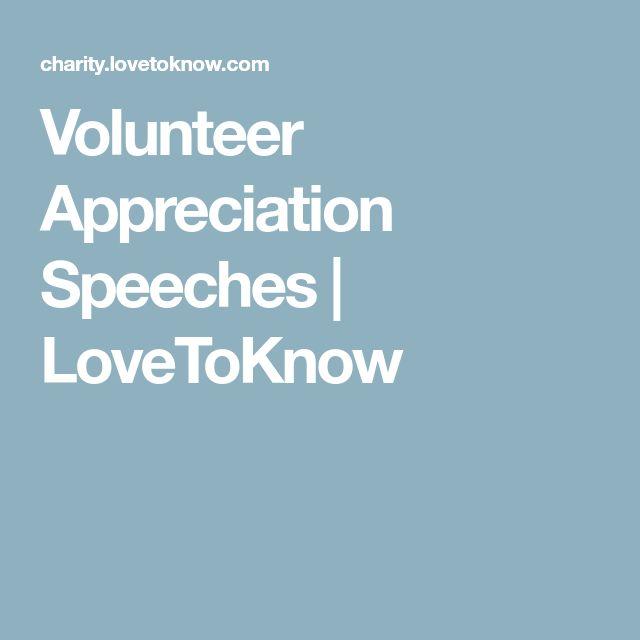 Volunteer Appreciation Speeches | LoveToKnow