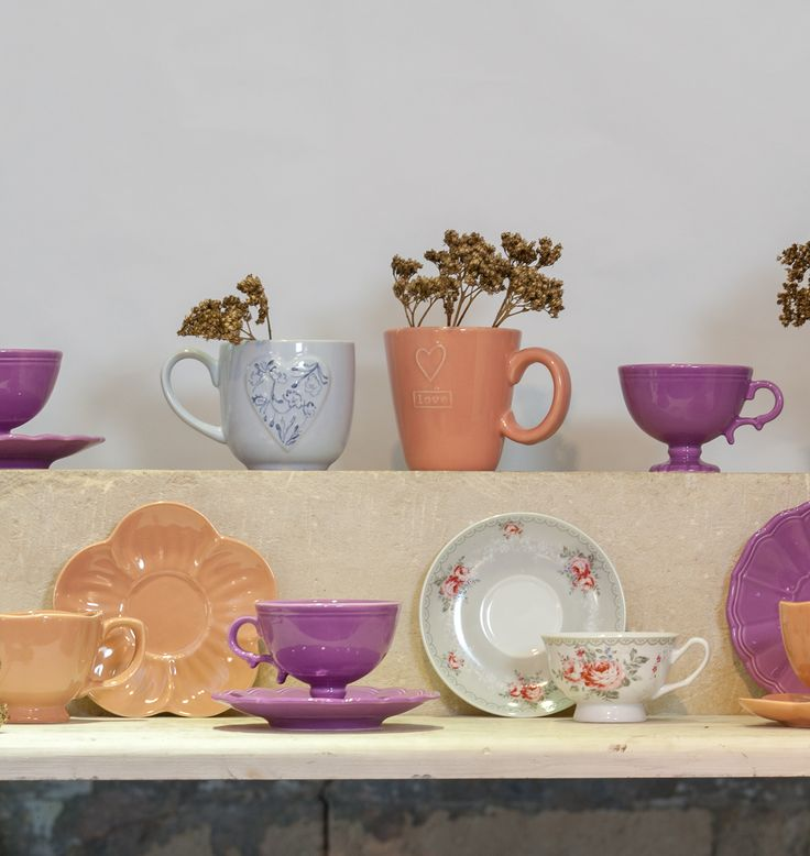 Coral and Lilac Royal Cups for all personality types. Which colour suits you?