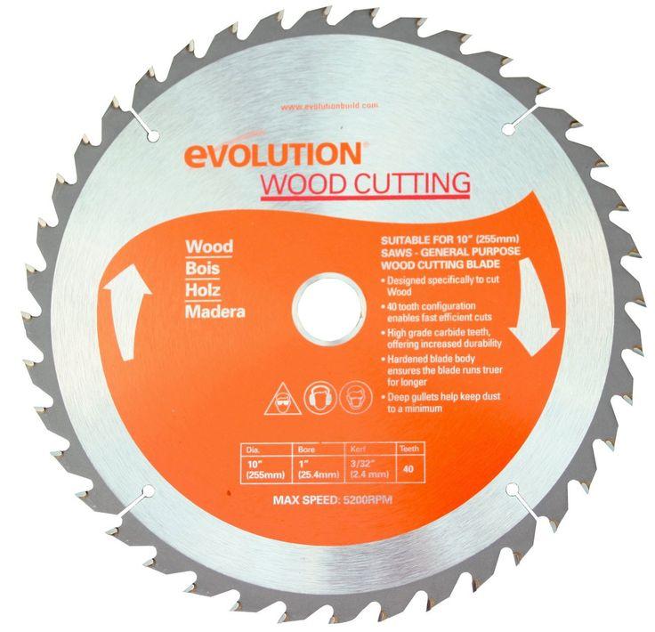"Evolution 10"" Wood Blade 10BLADEWD"
