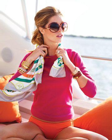 hot pink and orange.  summer chic.