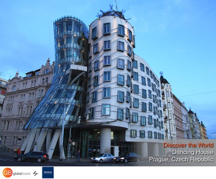 The Dancing House was inspired by Fred Astaire and Ginger Rogers.  #onlinebookingsystem #FIT #DancingHouse #Prague #CzechRepublic #FredAstaire #GingerRogers #discovertheworld #instadaily #todayspost #view #viewoftheday #views #picoftheday #DorakHolding #GB #GlobalBeds