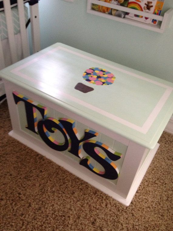 Custom Hand Painted Toy Chest by HeatherMow on Etsy, $280.00