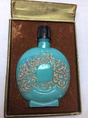 Antique-c1925-Pierre-Lionceau-PARFUM-POUR-BLONDES-Jadite-Bottle-Elesbe