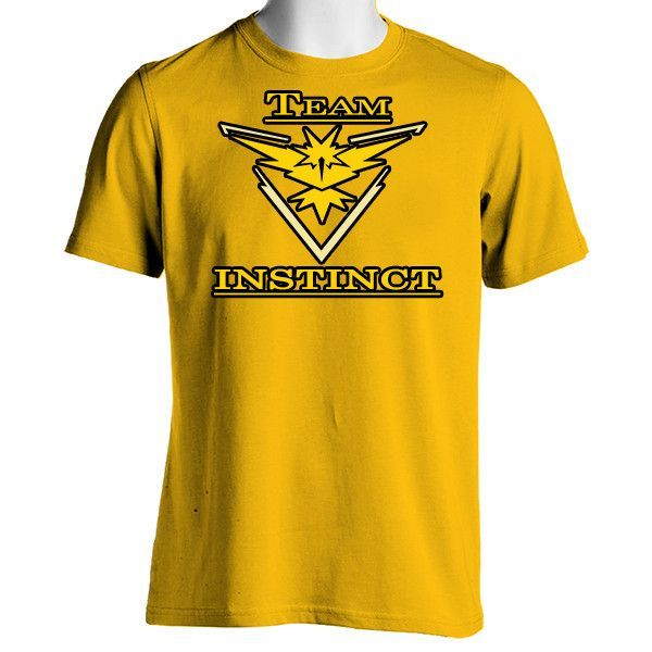 Pokemon Go Team Instinct: Yellow Unisex Crewneck T-Shirt