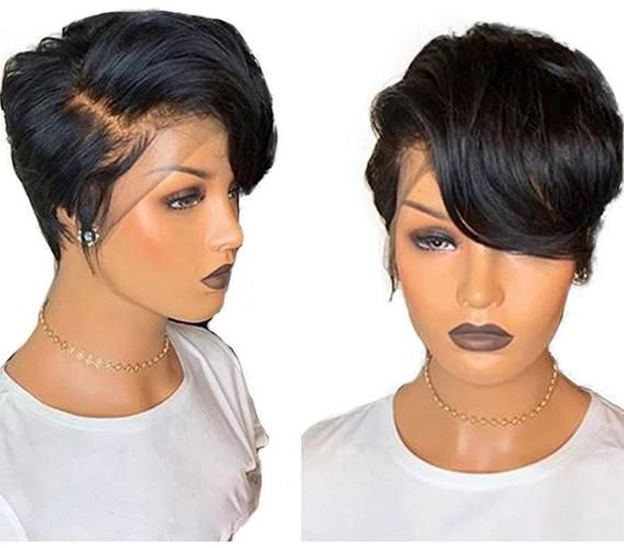 Charlise Glueless Pixie Wig Mysite In 2020 Wig Hairstyles Short Pixie Wigs Real Hair Wigs