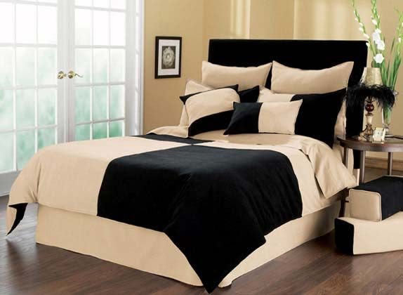 Black and tan comforter sets bedding sets for Cheap but nice bedroom sets