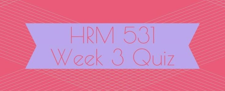 HRM 531 Week 3 Quiz1. Supervisors that excel at conducting performance-feedback interviews typically have received _________ prior to conducting appraisals.2. Which of the following is an advantage of narrative essays? 3. Prior to the performance-feedback interview, the supervisor should4. To avoid