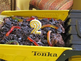 Adventures with the Austins: A Tonka Truck party! Dump cake!