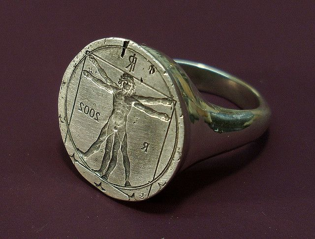 Vitruvian Man Ring (2009, IT) Ring 150., via Flickr.