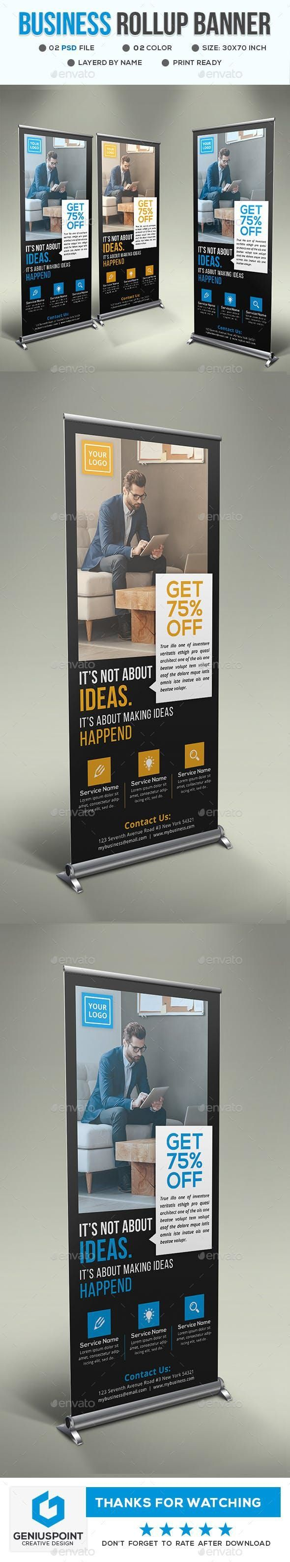 Business Roll Up Banner #PrintTemplate #graphicresources #Envato #PrintDesign #g...