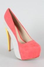 love: Color Block Love, Grapefruit Pumps, Color Blocking, Block Pump, Colorblock Stiletto, Block Coloring, High Heels, Color Heels, Shoes Heels