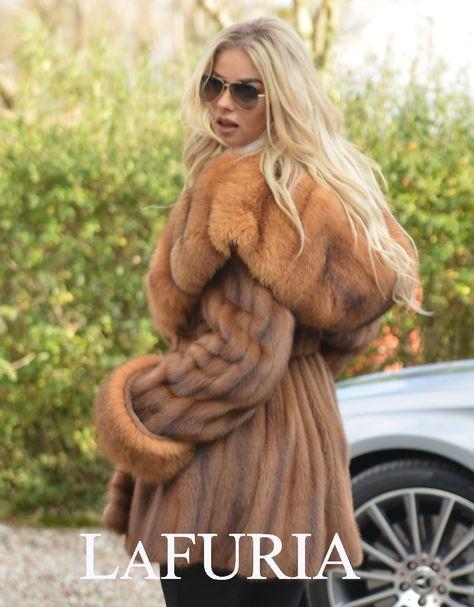 NEW BROWN SAGA MINK FUR LONG JACKET FOX HOOD CLASS OF SABLE CHINCHILLA COAT VEST | eBay