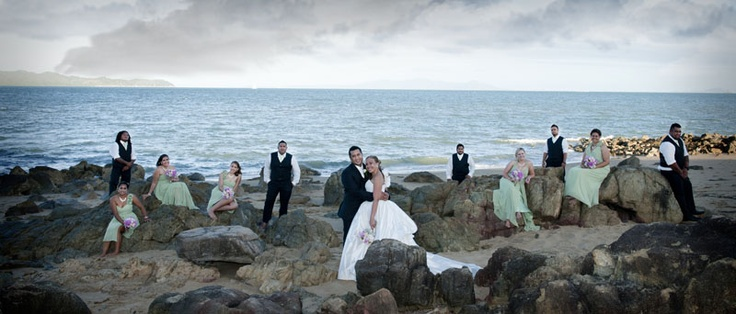 What a fantastic Bridal Party, Pallarenda National Park Townsville Queensland, Just another one of soooo many fantastic backdrops on offer.