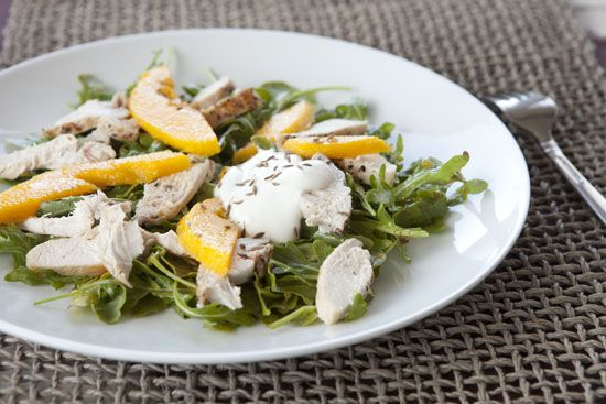 Mango Chicken Salad. Bonus recipe: quick mango chutney! Never realized chutney could be so simple!