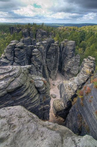 Tyssa Walls, Czech Republic. I know I'll never go here, but this is old Bohemia and my heart knows this place well