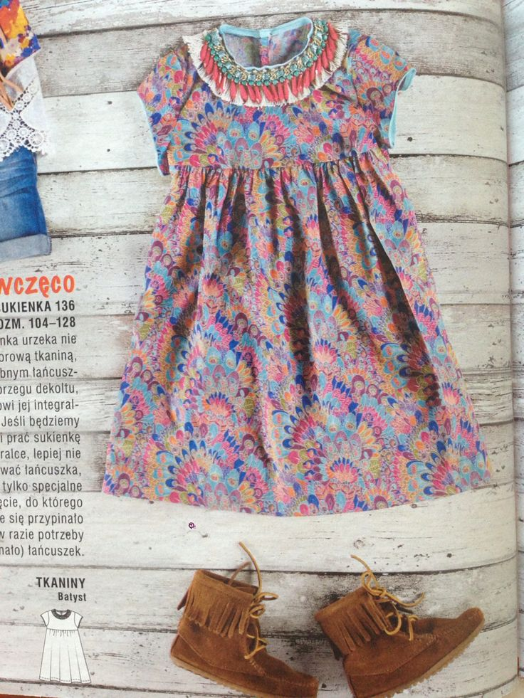 Little boho dress /  Burda PL nr 8/2015