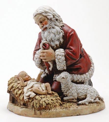 132 Best Kneeling Santa And Baby Jesus Images On Pinterest
