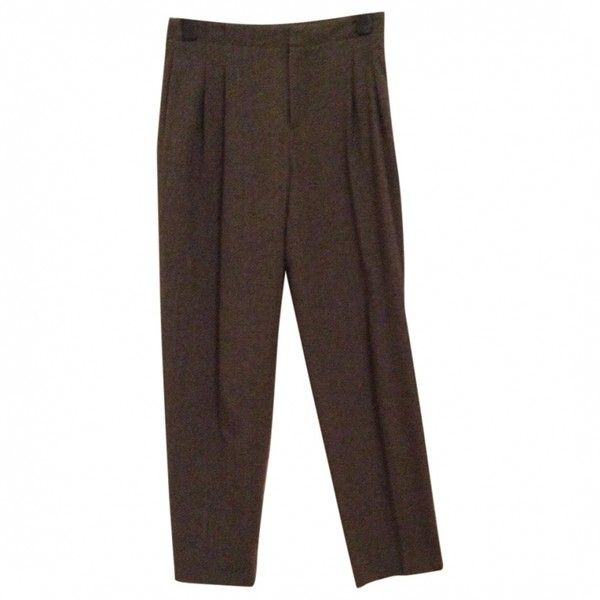 Grey Wool Trousers Other Stories ($50) ❤ liked on Polyvore featuring pants, gray trousers, woolen pants, gray wool trousers, grey trousers and grey wool pants