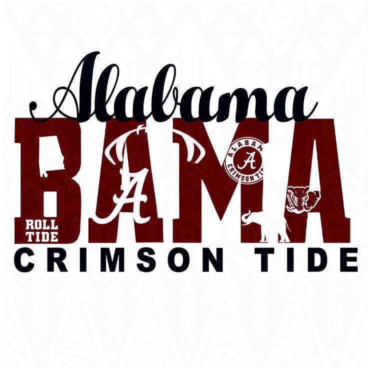 Alabama Crimson Tide ,Alabama svg,crimson svg,roll tide svg,football svg,logo,dxf,vector  Collage Silhouette Studio Software by Dxfstore on Etsy https://www.etsy.com/listing/293069319/alabama-crimson-tide-alabama-svgcrimson