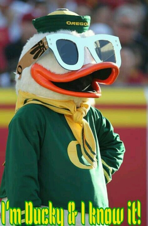 Oregon Duck... I'm ducky and I know it!
