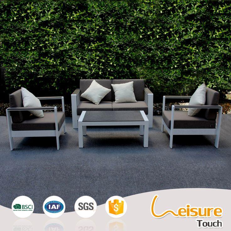 Cheap matel minimalist outdoor furniture cloth art powder spraying aluminum sofa set for sale