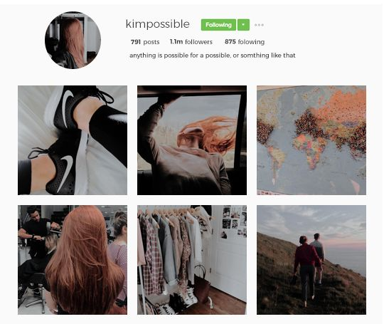 modern day instagram au: KIM POSSIBLE (the girls) kim/bonnie/monique/shego