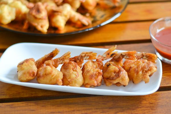 Camaron Rebosado (Filipino Deep Fried Batter Prawns)