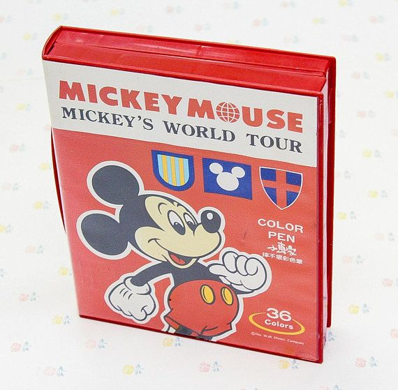 Vintage Disney Mickey Mouse Color Pen Set Disney Art Coloring