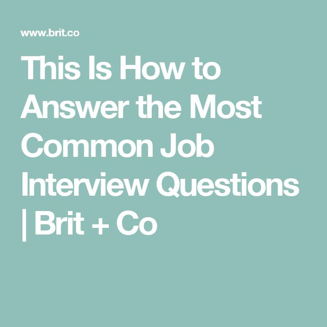 how to answer common internship interview questions