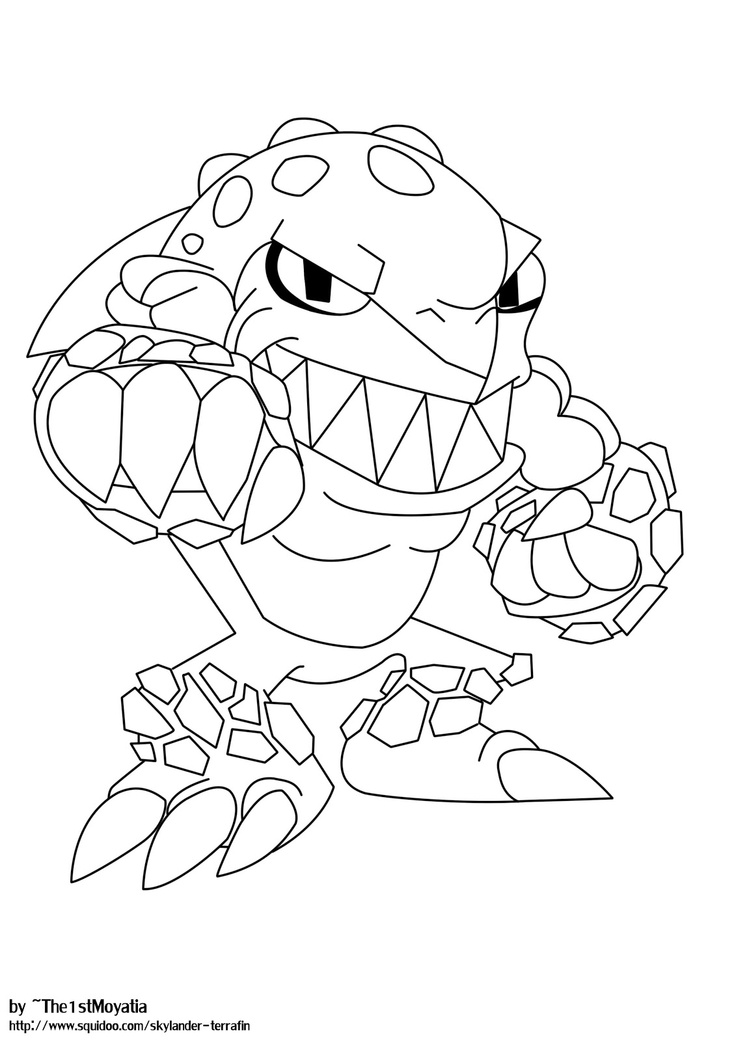 skylanders coloring pages terrafin - photo#8