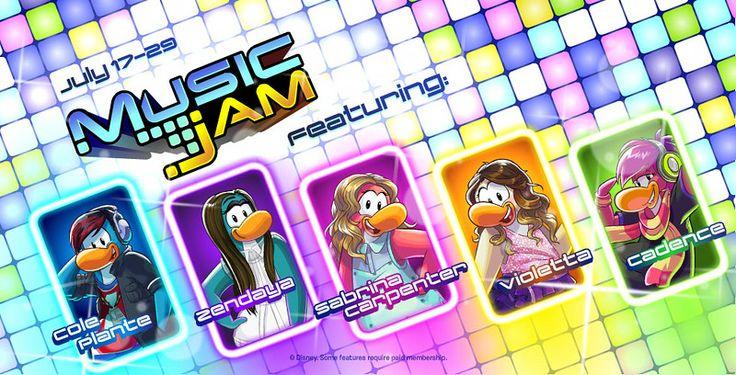 Disney Club Penguin: Music Jam Event, Penguins Inspired by Disney Music Stars