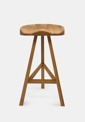 Heidi Stool - Natural Oak - High by Established and Sons